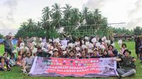 Kolaborasi Kebaikan Peduli Gempa Sulawesi Barat (Foto: Liputan6.com/Abdul Rajab Umar)