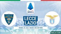 Serie A - Lecce Vs Lazio (Bola.com/Adreanus Titus)