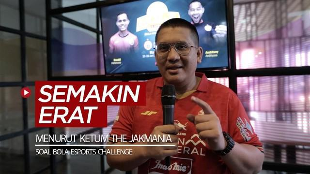 Berita video turnamen mini BOLA Esports Challenge di mata Ketua Umum The Jakmania, Diky Soemarno.