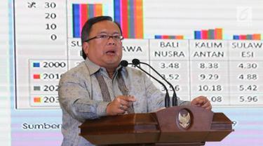 Menteri PPN/Kepala Bappenas, Bambang Brodjonegoro memberi paparan dalam Dialog Nasional II Pembangunan Ibu Kota Negara, di Jakarta, Rabu (26/6/2019). Rencana pemindahan ibu kota dari Jakarta terus digodok pemerintah, bahkan anggaran untuk dana pemindahan sudah disiapkan. (Liputan6.com/Angga Yuniar)
