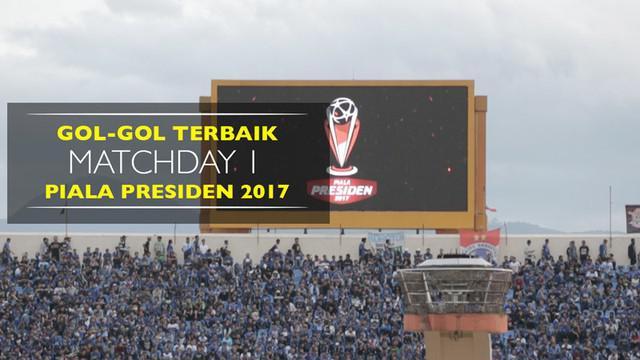 Berita video gol-gol terbaik matchday 1 Piala Presiden 2017, di mana satu persembahan dari pemain Arema, Dendi Santoso.