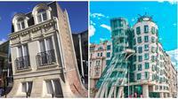 Potret Arsitektur Bangunan Bengkok Ini Nyeleneh Banget. (Sumber: Brightside)