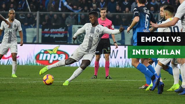 Inter Milan menang tipis dengan skor 1-0 atas Empoli dalam lanjutan Serie A pekan ke-19 di Stadio Carlo Castellani, Sabtu (29/12/2018).