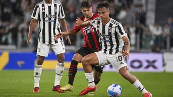 FOTO: Duel Sengit Juventus vs AC Milan Berakhir Tanpa Pemenang