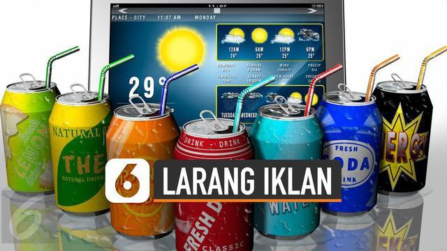 Singapura akan jadi negara pertama yang larang iklan minuman manis. Aturan akan diterapkan mulai tahun 2020.