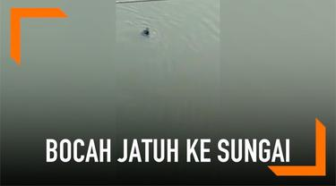 Bocah 4 tahun diduga dibuang ayahnya ke sungai di India. Polisi tengah menyelidiki kasus ini.