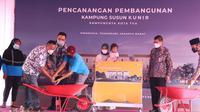 Gubernur DKI Jakarta Anies Baswedan menghadiri pencanangan pembangunan Kampung Susun Kunir di Pinangsia, Tamansari, Jakarta Barat. (Foto: Humas Pemprov DKI Jakarta)