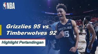 Berita video highlight Memphis Grizzlies mengalahkan Minnesota Timberwolves 95-92 untuk meraih gelar juara NBA Summer League 2019, Senin (16/7/2019).