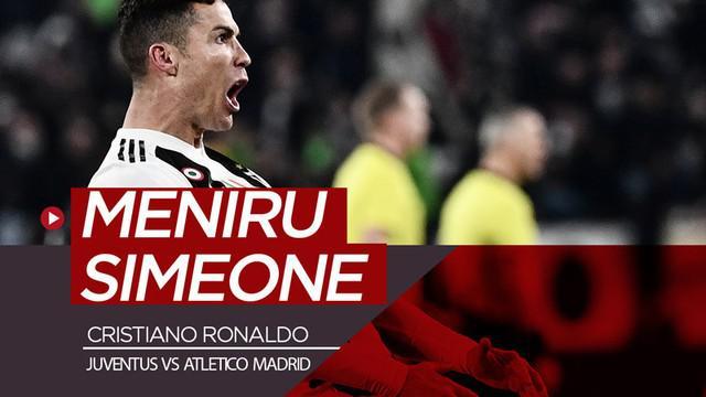 Berita video Cristiano Ronaldo meniru selebrasi Diego Simeone setelah Juventus menang 3-0 sekaligus menyingkirkan Atletico Madrid dari Liga Champions 2018-2019, Selasa (12/3/2019).