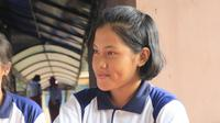 Calon Paskibraka 2019 asal Kalimantan Barat, Thalia Putri Andirani. (Foto: Liputan6.com/Aditya Eka Prawira).