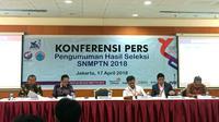 Panitia Pusat Seleksi Nasional Penerimaan Mahasiswa Baru Perguruan Tinggi Negeri (SNPMB PTN) 2018. (Liputan6.com/Devira Prastiwi)