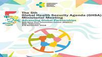 Indonesia jadi tuan rumah Global Health Security Agenda (GHSA) 2018 yang digelar pada 6-8 November di Bali. (Biro Komunikasi dan Pelayanan Masyarakat Kementerian Kesehatan RI)