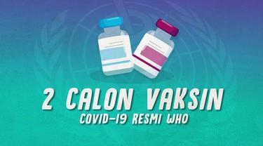 Organisasi Kesehatan Dunia (WHO) mengatakan ada dua calon vaksin yang berpeluang jadi vaksin resmi Covid-19.