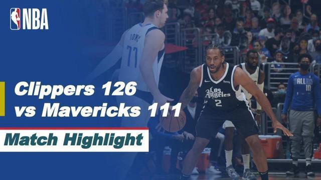 Berita video highlights laga terakhir babak awal wilayah barat NBA Playoffs antara LA Clippers melawan Dallas Mavericks yang berakhir dengan skor 126-111, Senin (7/6/2021) dinihari WIB.