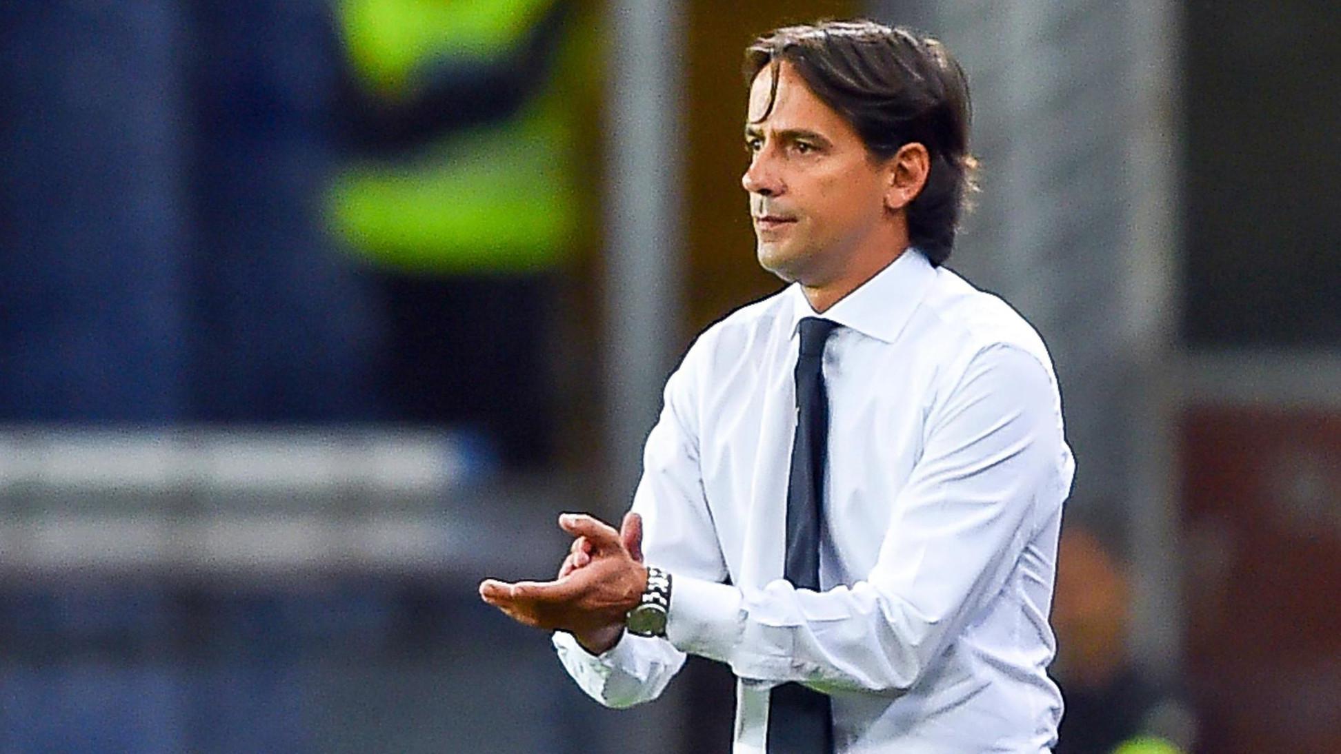 Pelatih Lazio, Simone Inzaghi (Simone Arveda/ANSA via AP)