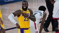 Bintang Lakers LeBron James Tak Berkutik melawan Raptors pada lanjutan NBA (AP)