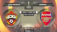 Liga Europa_CSKA Moscow Vs Arsenal (Bola.com/Adreanus TItus)