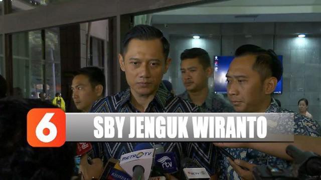 AHY menyebut kondisi Wiranto berangsur membaik setelah menjalani perawatan.