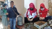 Fajar Satria Nugroho membeli Scoopy dengan koin pecahan Rp 1000 (Istimewa)