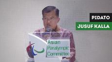 Berita video wakil presiden Indonesia Jusuf Kalla memberi ucapan terimakasih di acara penutupan Asian Para Games, Sabtu (13/10/2018).