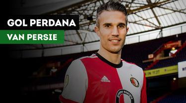 Mantan bintang Manchester United, Robin Van Persie Mencetak gol perdananya bagi Feyenoord