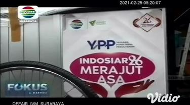 Yayasan Pundi Amal Peduli Kasih SCTV-Indosiar kembali menyerahkan bantuan dari pemirsa, bantuan kali ini diberikan kepada pedagang kecil yang terkena dampak pandemi Covid-19 di Kelurahan Wonocolo, Kecamatan Taman, Kabupaten Sidoarjo.