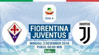 Jadwal Serie A 2018-2019 pekan ke-14, Fiorentina vs Juventus. (Bola.com/Dody Iryawan)
