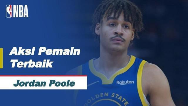 Berita video bintang muda Golden State Warriors, Jordan Poole, yang mencetak 38 poin, menjadi pemain terbaik NBA hari ini, Sabtu (15/5/2021) WIB.