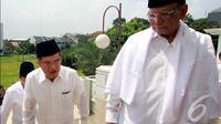 Hasyim Muzadi mendukung JK karena JK satu-satunya calon yang merupakan tokoh NU, Depok, Jumat (23/5/2014) (Liputan6.com/Andrian M Tunay)