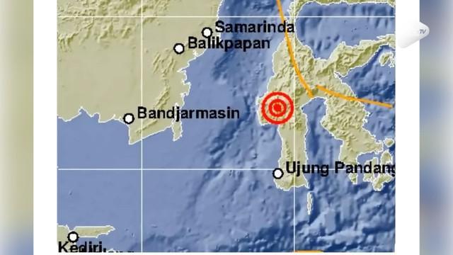 Gempa bumi mengguncang Mamasa, Sulawesi Barat, Kamis (15/11/2018). Gempa dengan magnitudo 5,5 itu terjadi pada pukul 06.01 WIB.