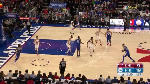 Berita video game recap NBA 2017-2018 antara Philadelphia 76ers melawan Chicago Bulls dengan skor 115-101.