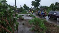 Puting Beliung di Tulang Bawang Akibatkan Lebih dari 200 Rumah Warga Rusak (Foto:Liputan6/Yopi Makdori)