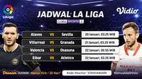Live streaming Liga Spanyol Pekan ke-19 dapat disaksikan melalui platform Vidio. (Dok. Vidio)