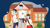 Banner Infografis Pro Kontra Sekolah Dibuka di Luar Zona Hijau. (Liputan6.com/Trieyasni)