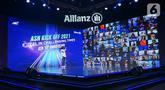 Chief Agency Officer Allianz Life Indonesia Ginawati Djuandi menyapa para agen pada Allianz Star Network (ASN) Kick Off 2021 dan 10th Anniversary yang diikuti oleh 12.000 mitra bisnis secara virtual di Jakarta, Minggu (17/01/2021). (Liputan6.com/Pool)