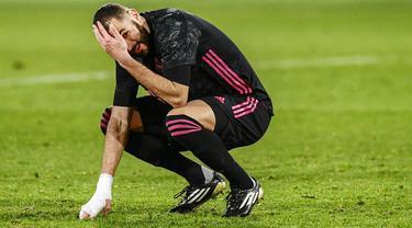 Foto Liga Spanyol: Reaksi Pemain Real Madrid Usai Gagal Menaklukkan Elche