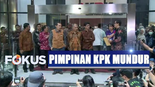 3 pimpinan KPK menyatakan mundur. Hal ini disampaikan Ketua KPK Agus Rahardjo setelah mengetahui Firli Bahuri terpilih jadi pemimpin baru.
