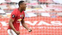 5. Anthony Martial (60 juta euro) - Manchester United melabuhkan winger asal Prancis ini dari Monaco dengan transfer mencapai 60 juta euro. (AFP/Peter Powell/pool)