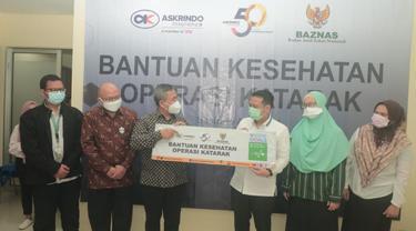 Askrindo dan BAZNAS Gelar Operasi Katarak Gratis Warga Tidak Mampu di Jabodetabek