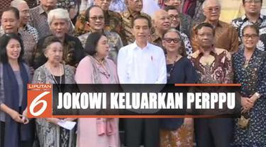 Bertemu dengan tokoh lintas agama dan budayawan, Presiden Jokowi akan pertimbangkan menerbitkan Perppu untuk mencabut UU KPK.