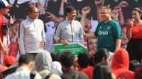 Grab Indonesia memberikan apresiasi terhadap Timnas Indonesia U-22 yang menjuarai Piala AFF 2019 dengan gratis naik selama setahun. (dok. PSSI)