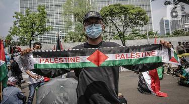 FOTO: Aksi Solidaritas Buruh untuk Rakyat Palestina