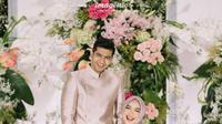 Ria Ricis telah resmi dilamar Teuku Ryan. Dalam acara lamaran, keduanya tampak serasi dalam balutan busana ungu muda. (Instagram/imagenic).
