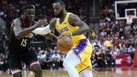 LeBron James gagal membawa LA Lakers menang lawan Houston Rockets (AP Photo/David J. Phillip)