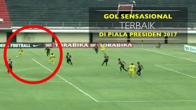 Berita video inikah gol terbaik Piala Presiden 2017 persembahan dari pemain muda Sriwijaya FC, Slamet Budiyono, pada Senin (13/2/2017).
