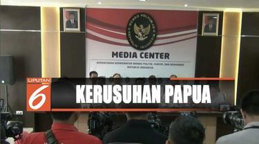 Menurut Menko Polhukam Wiranto ada dua aktor konspirasi kerusuhan di Papua dan Papua Barat.