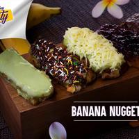 Suka banget sama pisang atau makanan yang manis-manis? Coba bikin makanan kekinian yang satu ini, yuk! Banana Nugget. (Foto: Bintang.com/Daniel Kampua, Digital Imaging: Bintang.com/Muhammad Iqbal Nurfajri)