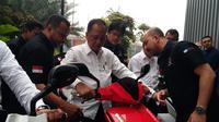 Motor Listrik Gesits Siap Mengaspal di IIMS 2019 (Dian/Liputan6.com)