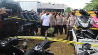 Ratusan motor bodong siap ekspor ke Timor Leste diamankan Polres Pati di salah satu gudang di Juwana, Kabupaten Pati. (Foto: Liputan6.com/Humas Polda Jateng)