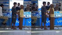 Wanita ini paksa pacar belikan iPhone saat di konter (Sumber: Twitter/heeburans)